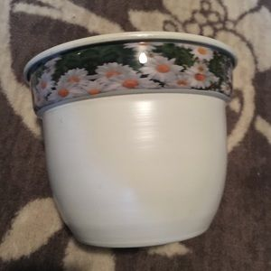 Metal Pot with flowers